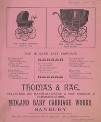 Advert for Thomas Rae, pram manufacturers